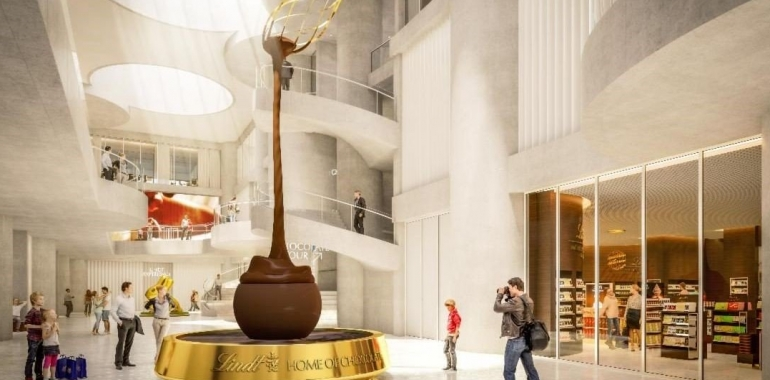 Lindt launches world's largest chocolate museum.